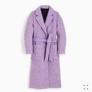 J.Crew Collection wrap coat in Italian herringbone